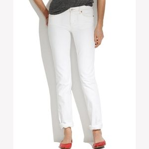 Madewell Real Straight white jeans